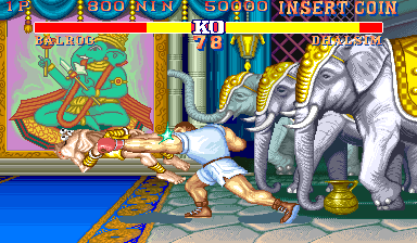Street Fighter II': Champion Edition (Double K.O. Turbo II, bootleg) Screenshot