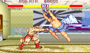 Street Fighter II': Champion Edition (Rainbow set 2) Screenshot