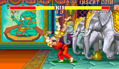 Street Fighter II: The World Warrior (Thunder Edition, bootleg) Screenshot