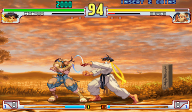 Street Fighter III 3rd Strike: Fight for the Future (Euro 990608) Screenshot