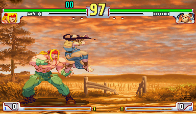 Street Fighter III 3rd Strike: Fight for the Future (Japan 990608, NO CD) Screenshot