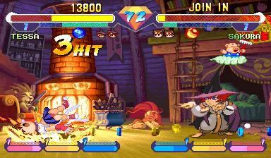 Super Gem Fighter Mini Mix (USA 970904 Phoenix Edition) (Bootleg) Screenshot