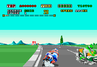 Super Hang-On (Hang-On conversion, bootleg) Screenshot