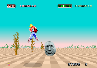 Space Harrier (Rev A, 8751 315-5163A) Screenshot