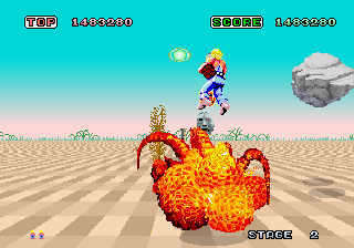 Space Harrier (8751 315-5163) Screenshot