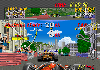 Super Monaco GP (US, Rev A) (FD1094 317-0125a) Screenshot