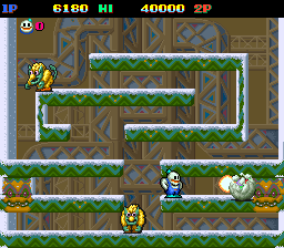 Snow Bros. - Nick & Tom (Japan) Screenshot