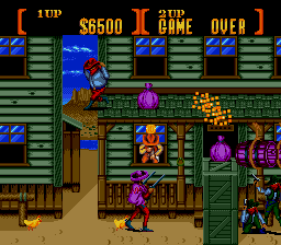 Sunset Riders (bootleg of Megadrive version) Screenshot
