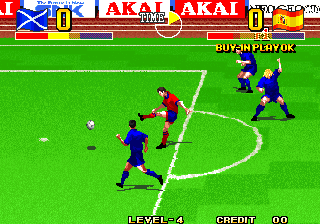 Ultimate 11: The SNK Football Championship / Tokuten Ou: Honoo no Libero, The Screenshot