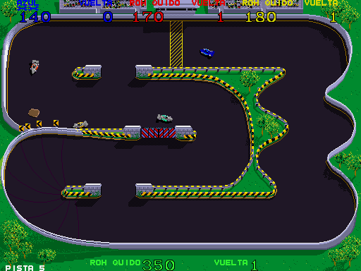 Super Sprint (Spanish) Screenshot