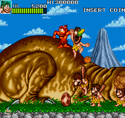Stoneage (bootleg of Caveman Ninja) Screenshot
