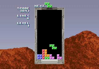 Tetris (set 4, Japan, System 16A) (FD1094 317-0093) Screenshot