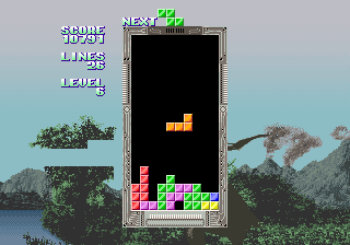 Tetris (set 3, Japan, System 16A) (FD1094 317-0093a) Screenshot