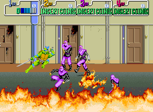 Teenage Mutant Hero Turtles (UK 4 Players, version F) Screenshot