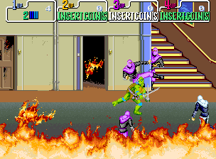 Teenage Mutant Ninja Turtles (World 4 Players, version X) Screenshot