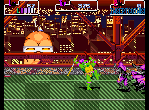 Teenage Mutant Ninja Turtles - Turtles in Time (2 Players ver UDA) Screenshot