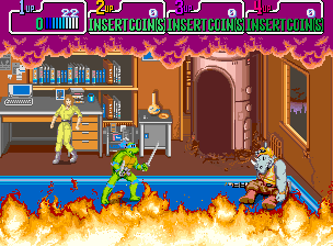 Teenage Mutant Ninja Turtles (US 4 Players, version R) Screenshot