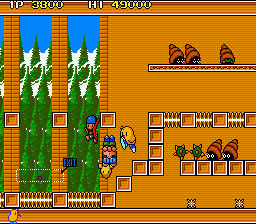 The NewZealand Story (World, old version) (older PCB) Screenshot