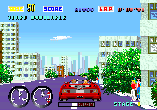 Turbo Out Run (deluxe cockpit) (FD1094 317-0109) Screenshot