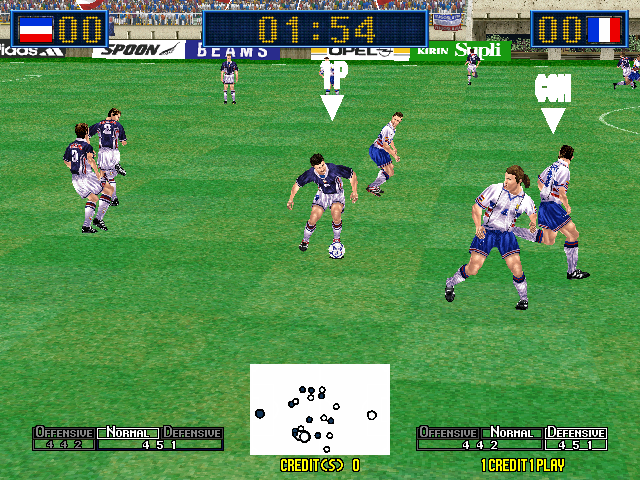 Virtua Striker 2 Ver. 2000 (Rev C) Screenshot