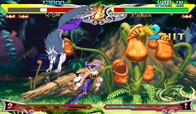 Vampire Savior: The Lord of Vampire (Euro 970519 Phoenix Edition) (bootleg) Screenshot