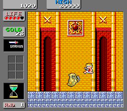 Wonder Boy in Monster Land (English bootleg set 1) Screenshot