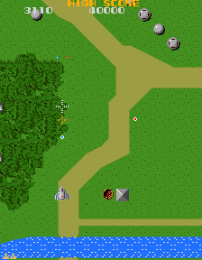 Xevious (Atari, harder) Screenshot