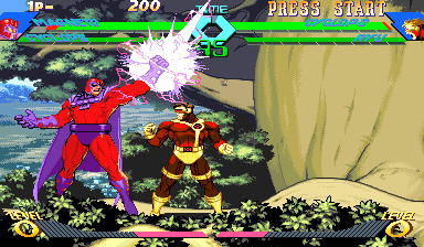 X-Men Vs. Street Fighter (USA 961023) Screenshot