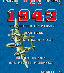 1943: The Battle of Midway (Euro) Title Screen