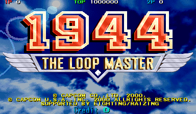 1944: The Loop Master (USA 000620 Phoenix Edition) (bootleg) Title Screen