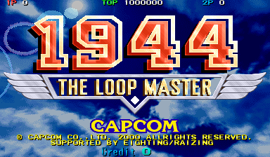 1944: The Loop Master (Japan 000620) Title Screen