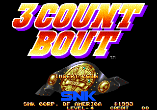 3 Count Bout / Fire Suplex Title Screen