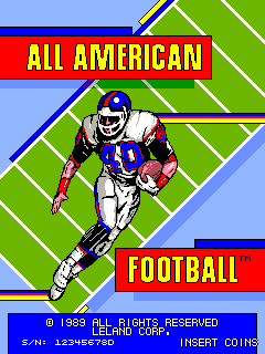 All American Football (rev D, 2 Players) Title Screen