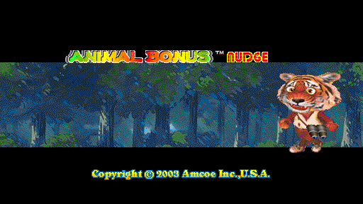 Animal Bonus Nudge (Version 2.0, set 1) Title Screen