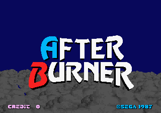 After Burner Title Screen