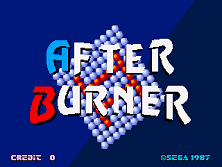 After Burner II Title Screen