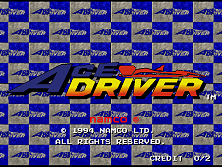 Ace Driver: Racing Evolution (Rev. AD2) Title Screen