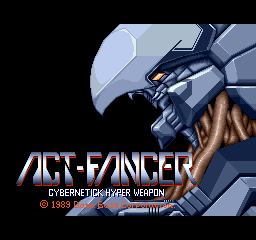 Act-Fancer Cybernetick Hyper Weapon (World revision 1) Title Screen