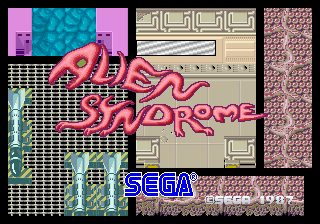 Alien Syndrome (set 1, Japan, old, System 16A, FD1089A 317-0033) Title Screen