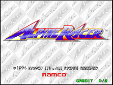 Alpine Racer (Rev. AR2 Ver.D) Title Screen