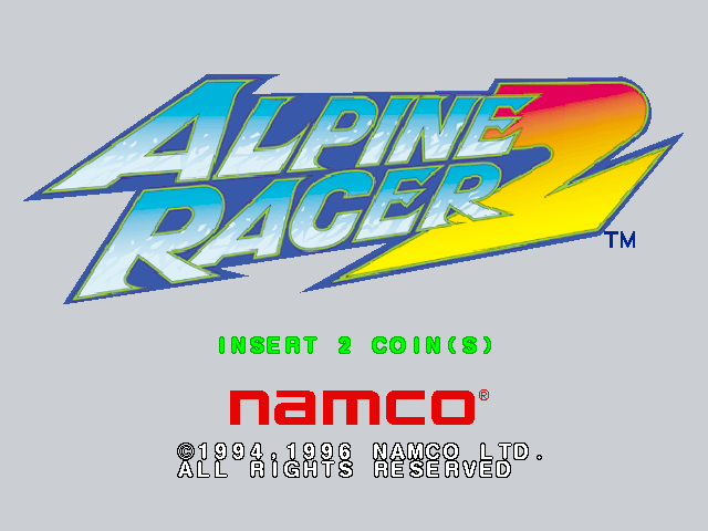 Alpine Racer 2 (Rev. ARS2 Ver.A) Title Screen
