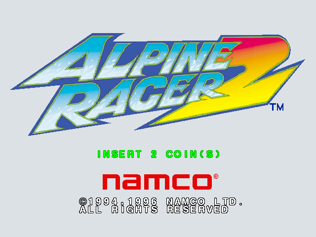 Alpine Racer 2 (Rev. ARS2 Ver.B) Title Screen