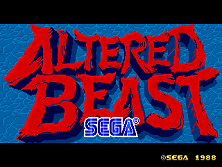 Altered Beast (set 8) (8751 317-0078) Title Screen