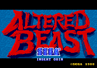 Altered Beast (set 2) (MC-8123B 317-0066) Title Screen