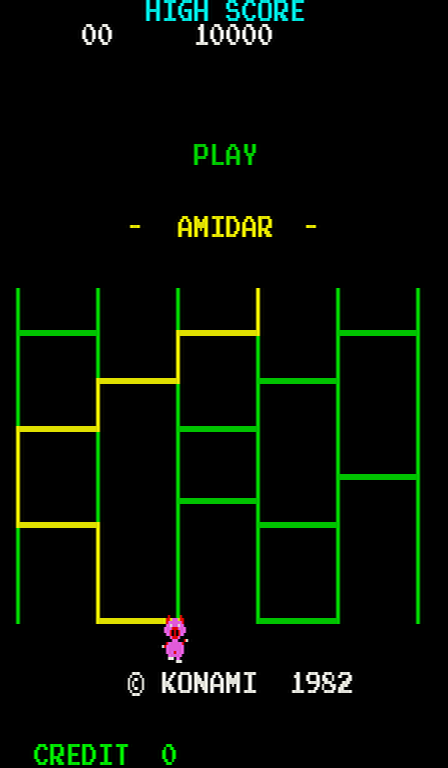 Amidar (Scramble hardware) Title Screen