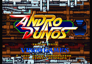 Andro Dunos Title Screen