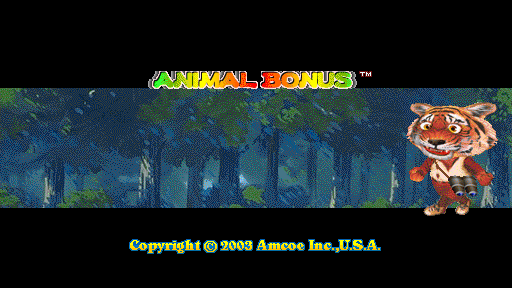 Animal Bonus (Version 1.7LT, set 1) Title Screen