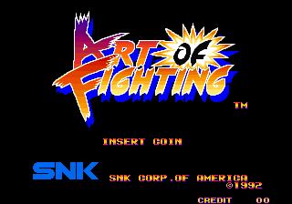 Art of Fighting / Ryuuko no Ken Title Screen
