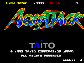 Aqua Jack (World) Title Screen