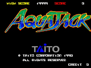 Aqua Jack (Japan) Title Screen